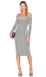 Long sleeve off the shoulder midi dress - DEREK LAM 10 CROSBY