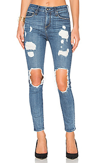 Shiko high waist open knee skinny - TORTOISE