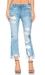 Укороченные расклешенные джинсы высокой посадки bellatule - TORTOISE
