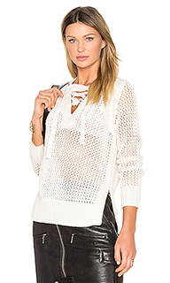Lace up v neck sweater - DEREK LAM 10 CROSBY