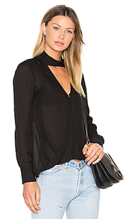 Long sleeve drape front collar detail blouse - DEREK LAM 10 CROSBY