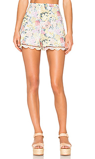 Valour hydrangea flare shorts - Zimmermann
