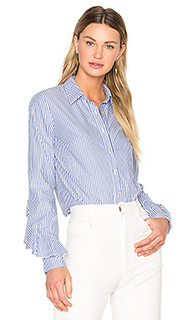 Ruffle sleeve button down shirt - SUNO