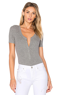 V neck henley bodysuit - ATM Anthony Thomas Melillo