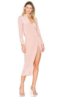 Платье с запахом и длинными рукавами - Michelle Mason