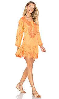 Silk long sleeve beach dress - juliet dunn
