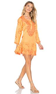 Silk long sleeve beach dress - juliet dunn
