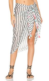 Linen block stripe sarong - Seafolly