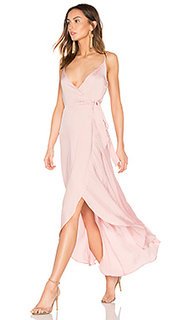 Tissue satin wrap dress - Band of Gypsies