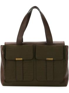 сумка-тоут с двумя карманами Yves Saint Laurent Vintage