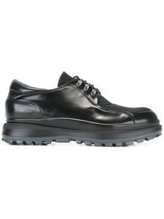 туфли на шнуровке с панельным дизайном Giorgio Armani