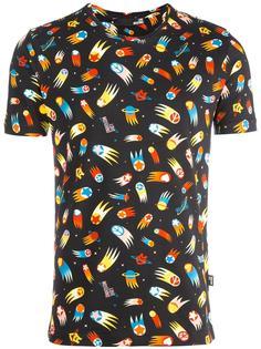 футболка с космическим принтом Love Moschino