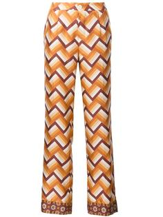 брюки прямого кроя с узором-елочкой For Restless Sleepers