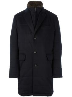 пальто с меховой подкладкой N.Peal