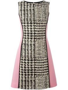 платье в ломаную клетку  Fausto Puglisi