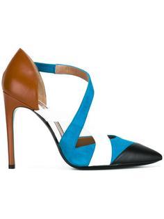 туфли колор-блок  Pollini