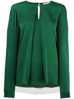 блузка с длинными рукавами и складкой спереди Michael Michael Kors