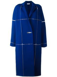 длинное пальто свободного кроя Courrèges
