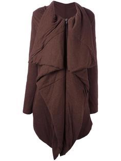 асимметричное пальто на молнии Rick Owens Lilies