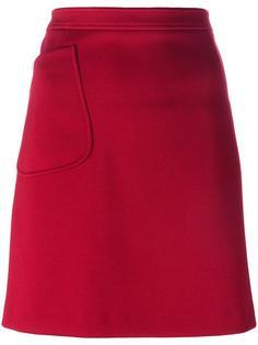 юбка с накладным карманом Jil Sander Navy