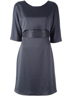 платье с атласным поясом Armani Collezioni