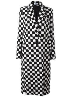 длинное клетчатое пальто Courrèges
