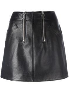 юбка А-образного силуэта с молниями Courrèges