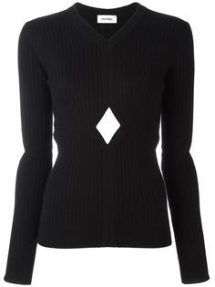 вязаная блузка с декоративными вырезами Courrèges