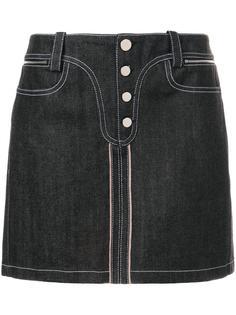 джинсовая мини-юбка Paco Rabanne