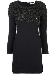 узкое платье с металлической отделкой Pierre Balmain
