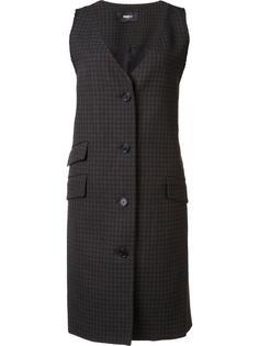 пиджак без рукавов в клетку Yang Li