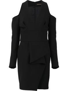 приталенное платье с глубоким V-образным вырезом Alexandre Vauthier