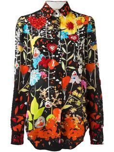 рубашка с цветочным рисунком и вышивкой блестками Piccione.Piccione