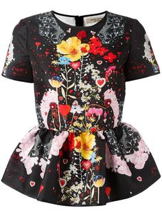 блузка с цветочным рисунком Piccione.Piccione