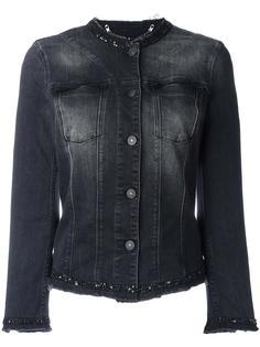 джинсовая куртка без воротника 7 For All Mankind