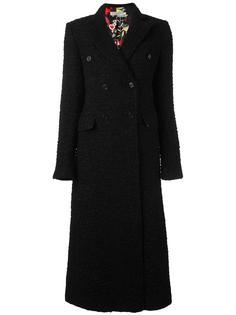 длинное твидовое пальто Piccione.Piccione