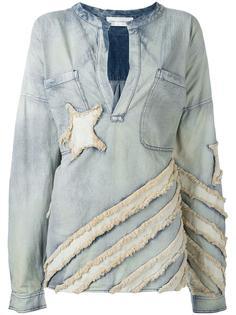 объемная джинсовая блузка Faith Connexion