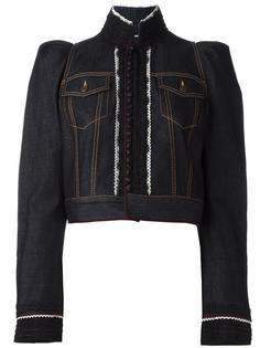 укороченная джинсовая куртка с вышивкой Dsquared2