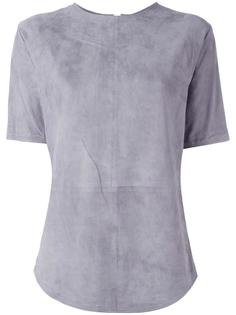 кожаная футболка Balmain