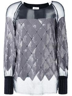 прозрачная блузка с пайетками Aviù