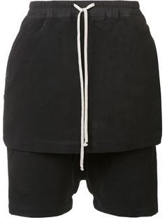 укороченные брюки с накладной панелью Rick Owens DRKSHDW