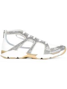кроссовки декорированные кристаллами René Caovilla