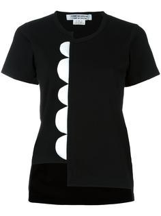 футболка с волнистой деталью Comme Des Garçons Comme Des Garçons