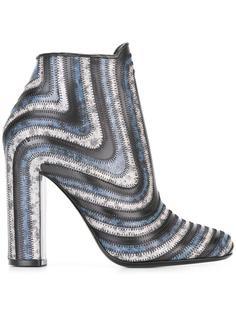 ботинки по щиколотку в полоску Salvatore Ferragamo