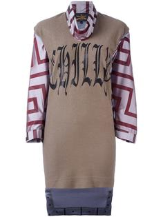 короткое платье с длинными рукавами Vivienne Westwood Anglomania