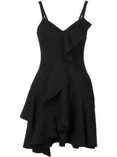 приталенное платье с оборками Cinq A Sept