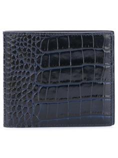 бумажник с эффектом крокодиловой кожи Smythson