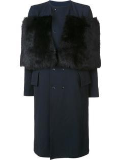 пальто с меховой панелью Toga