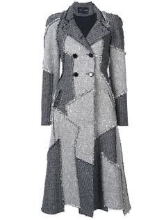 двубортное пальто в стиле печворк Proenza Schouler