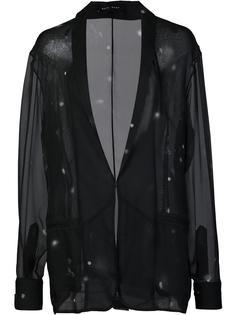 прозрачный пиджак с лацканами-шалькой Baja East